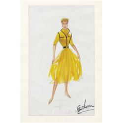 Elois Jenssen costume sketch for Lucille Ball from I Love Lucy