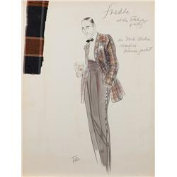 "Theodora Van Runkle costume sketch of John Cazale as ""Freddo"" in The Godfather Part II"