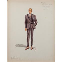 Miles White costume sketch of Dan Dailey for There's No Business Like Show Business