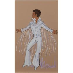 Peter Menefee costume sketch for Michael Jackson in an early 1970's Jackson 5 TV special, with COA