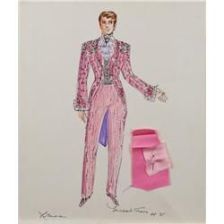 Michael Travis costume sketch for Liberace