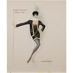 Moss Mabry costume sketch for Liza Minnelli in Rent-a-Cop