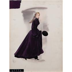 Walter Plunkett costume design of Maria Schell for The Brothers Karamozov