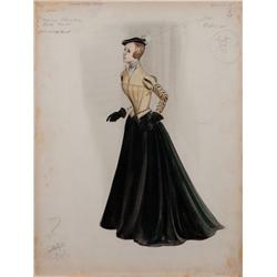 Walter Plunkett costume design for Jean Simmons in Young Bess