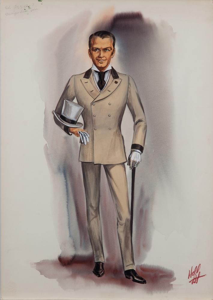 Image 1  Norma Koch costume sketch for Frank Sinatra in 4 for Texas  sc 1 st  iCollector.com : frank sinatra costume  - Germanpascual.Com