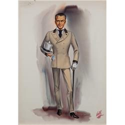 Norma Koch costume sketch for Frank Sinatra in 4 for Texas