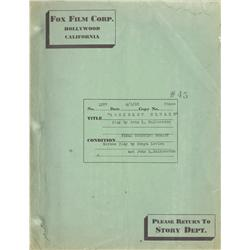 Berkeley Square original final shooting script for 1933 fantasy film