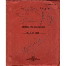 Darryl F. Zanuck's personal script for Stanley and Livingstone