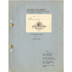 Goodbye, Mr. Chips original script for the film to win best actor Oscar for 1939