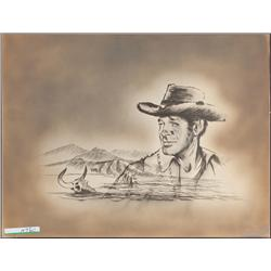 Wagon Train camera title-sequence art of Robert Horton