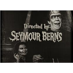 The Munsters original camera title art for director's credit
