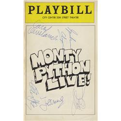 "Pair of Monty Python Live!"" Playbills signed by entire Monty Python cast"