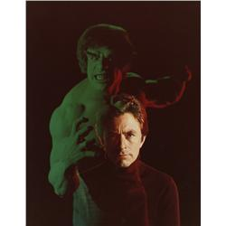 Collection of behind-the-scenes photos of Bill Bixby and Lou Ferrigno from The Incredible Hulk