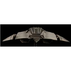 Forced perspective Cylon Raider filming miniature from Battlestar Galactica