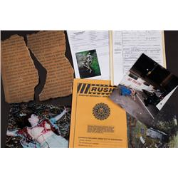 Prop X-File, crime scene photographs and ancient manuscript from The X-Files
