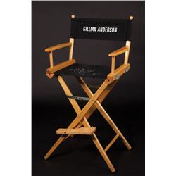 Gillian Anderson signed X-Files director chair