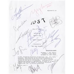 "LOST script for the episode ""The 23rd Psalm"" signed by 13 cast members"