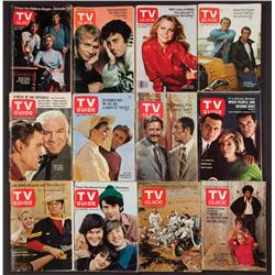 Collection of 60+ issues of TV Guide from 1950s through 1970s