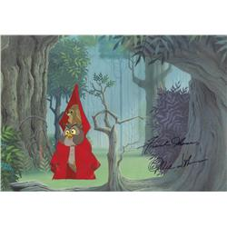 "Sleeping Beauty 1959 production cel signed by Disney ""Old Men"" Ollie Johnston & Frank Thomas"