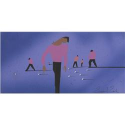 Eyvind Earle conceptual artwork for musical number in West Side Story