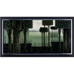 Eyvind Earle original painting, signed and dated 1965
