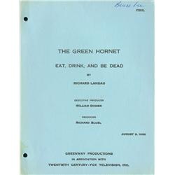 Bruce Lee personal signed script for The Green Hornet