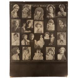 Casting composite photos on 27 folio displays depicting hundreds of feature players for 1926