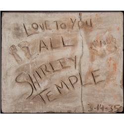 Shirley Temple cement block from Grauman's Chinese Theater