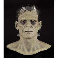 Artists proof life-size Boris Karloff Frankenstein bust hand-painted by Gino Acevedo