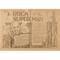 Original 1933 issue of The Reign of the Super-Man