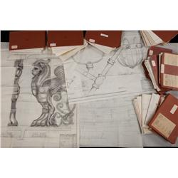Ben-Hur massive storyboard & set-blueprints reference book from archive of art director Ed Carafango