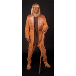 Screen-used orangutan costume display from Planet of the Apes