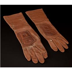 Maurice Evans Dr. Zaius gauntlet gloves from Planet of the Apes, Beneath the Planet of the Apes & TV