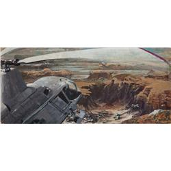Original panoramic storyboard art for Michael Crichton's The Andromeda Strain