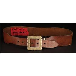 "Clint Eastwood ""Josey Wales"" signature belt from The Outlaw Josey Wales"