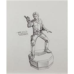 John Alvin Star Wars Chess piece drawing of Han Solo