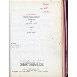 Harrison Fordheavily-annotated complete shooting script forRaiders of the Lost Ark