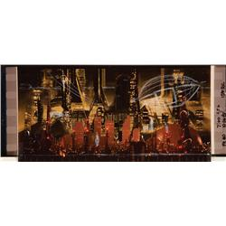 Collection of 65mm frame blowups of Tyrell building, Hades landscape and Megacity from Blade Runner