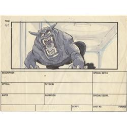 Ghostbusters storyboard artwork by John Bruno