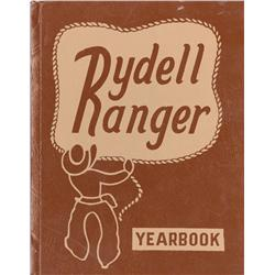 "Grease Rydell High School prop yearbook handed out during ""We go together"" musical number"
