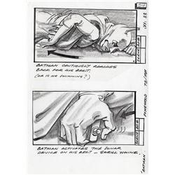 Batman original pencil drawn storyboards