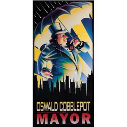 "Prop framed ""Oswald Cobblepot for Mayor"" poster from Batman Returns"