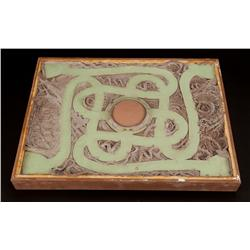 Prototype game board from Jumanji