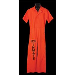 """Patrick Swayze """"Race Darnell"""" prison jumpsuit from Letters from a Killer"""