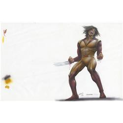X-Men original concept artwork for Wolverine by Tim Flattery