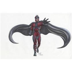 X-Men original concept artwork for Magneto by Tim Flattery