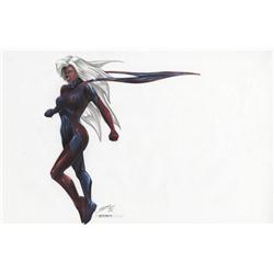 X-Men original concept artwork for Storm by Tim Flattery