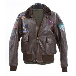 Arnold Schwarzenegger hero leather jacket and sweater from The 6th Day