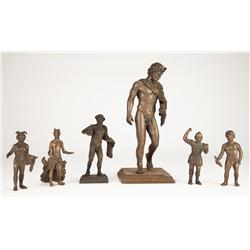 Six bronze gods figures from Gladiator