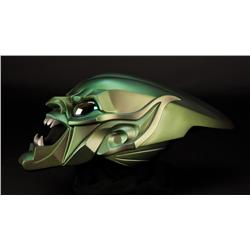 Green Goblin mask worn by Willem Dafoe's character in Spider-Man